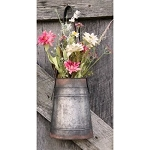 Metal Hanging Flower Holder With Strap Small 9.5