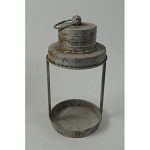 White Distressed Rustic Lantern 12