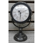 Black Distressed Clock 14