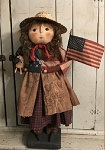Americana Mama with Feedsack Skirt **Pre-Order**