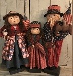 Americana Set of 3 Handmade Patriotic Family **Pre-Order**