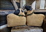 Handmade Sheep Set of 2 with Pine Collars