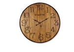 Wood Barrel Wall Clock