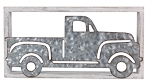 Wood Frame/Tin Truck Wall Art