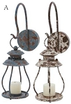 Metal Industrial Lantern Sconce