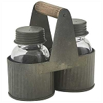 Norwood Caddy with Glass Salt & Pepper