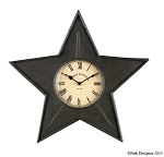 Star Metal Clock - Black
