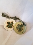 Handmade 4 Leaf Clover Mason Jar Lid Ornament St Patricks Day Paddys