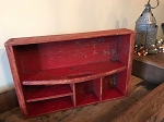 Antique Red divided carrier