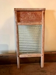 Antique washboard with glass
