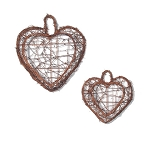 Twig Pockets - Heart Shape - Set of 2