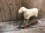 2018 Handmade Arnett's Sheep Pull Toy 9