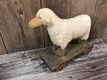 2018 Handmade Arnett's Sheep Pull Toy 10