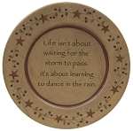Dance In The Rain Carved Plate - 9