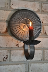Round Star Candle Sconce