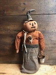Vera Pumpkin WItch Doll Handmade by Olde Time Santa