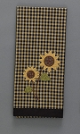 Sunflower Check Decorative Dishtowel