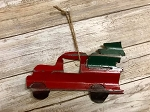 Handmade Tin Red Trucks with Trees 7