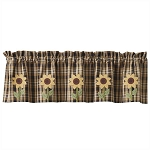 Sunflower In Bloom Lined Applique Valance