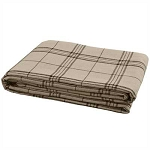 Fieldstone Plaid Queen Bedspread - Black