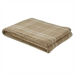 Fieldstone Plaid Queen Bedspread - Cream