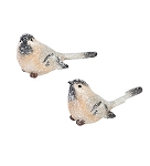 Frosted Birds, 2 Assorted