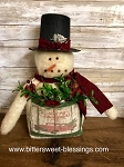 Handmade Snowman with Top Hat 14