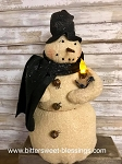 Snow Wishing Snowman Handmade with Candle 18