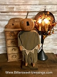 Handmade Pumpkin Girl on Stand with Fall Banner 19