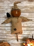 Hanging Pumpkin Scarecrow with Crow Handmade 25