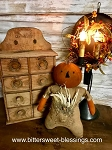 Handmade Pumpkin Stump Doll 14