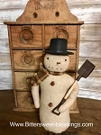 Handmade Snowman with Shovel 11