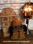 Handmade Pumpkin Doll with Pocket of Sticks 15