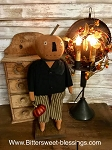 Handmade Pumpkin Boy on Stand with Pumpkin 19