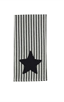 Black Star Ticking Dishtowel