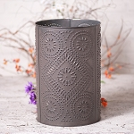 Waste Basket with Diamond in Blackened Tin