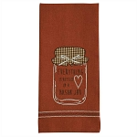 Everything Is Better Applique Dishtowel