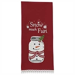 Snow Much Fun Applique Dishtowel