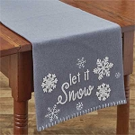 Let It Snow Felt Table Runner - 36