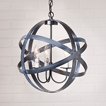 15-Inch Strap Sphere Chandelier in Black