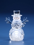 Small Top Hat Snowman LED Battery Operated 6