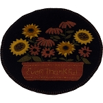 Ever Thankful Black Candle Mat