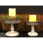 Cream Distressed Candle Trays (set of 2) 7