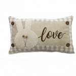 Love Pillow with Bunny and Buttons 4.5 x 5.25 in
