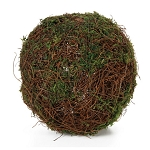 Vine and Moss Ball: Green - 6 inches