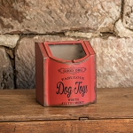 MEDIUM RED DOG TOYS BOX