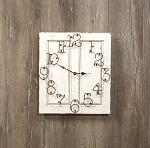 SMALL WHITE RAISED PANEL CLOCK