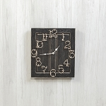SMALL BLACK RAISED PANEL CLOCK