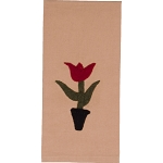 3 Tulips Cream Towel