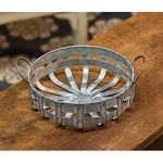 Washed Galvanized Metal Basket with Handles
